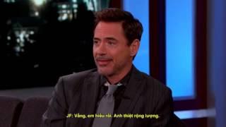 [Vietsub] Robert Downey Jr on Jimmy Kimmel talking about Spiderman
