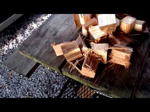 How To Chunk Your Own BBQ Smoking Wood