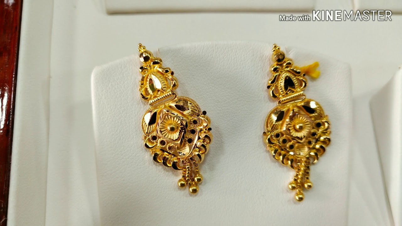 3 Grams Gold Earrings New Designs You