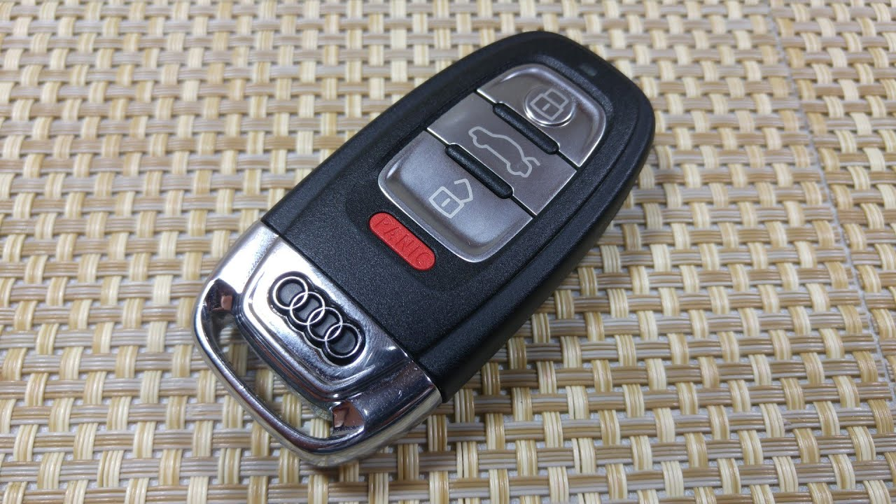 How to change SmartKey Key fob Battery on Audi A5 A3 A4 S4 S5 S6 Q5 Keyless entry IYZFBSB802 ...