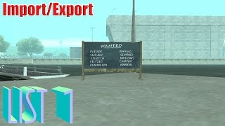GTA San Andreas - Import/Export (List 1)