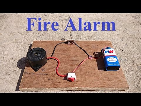 How to make Fire Detector Alarm at home    Very Simple   