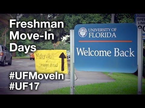 Freshman Move-In Days - #UF17 #UFMoveIn - University of Florida