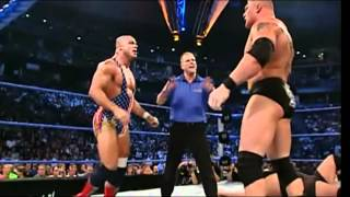 Brock Lesnar Vs. Big Show Vs. Kurt Angle - Vengeance 2003 - Highlights HD