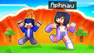We're STRANDED By A Lava TSUNAMI In Minecraft!