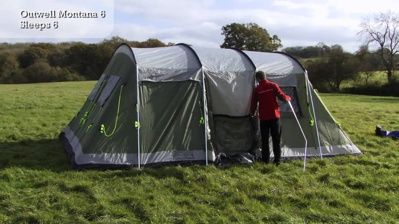 & Outwell Montana 6 - Tent Pitching Video - YouTube