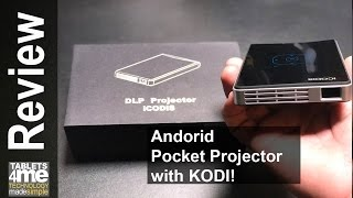 Android Pocket Pico Projector and TV Box with Kodi Preloaded
