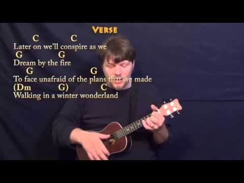 Winter Wonderland (Christmas) Ukulele Cover Lesson in C with Chords/Lyrics