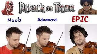 """5 Levels Of """"Attack On Titan"""" Music: Noob to Epic"""