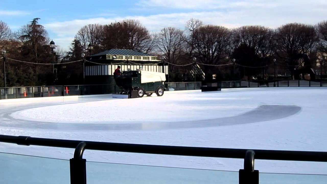 zamboni in action washington d c sculpture garden ice rink youtube