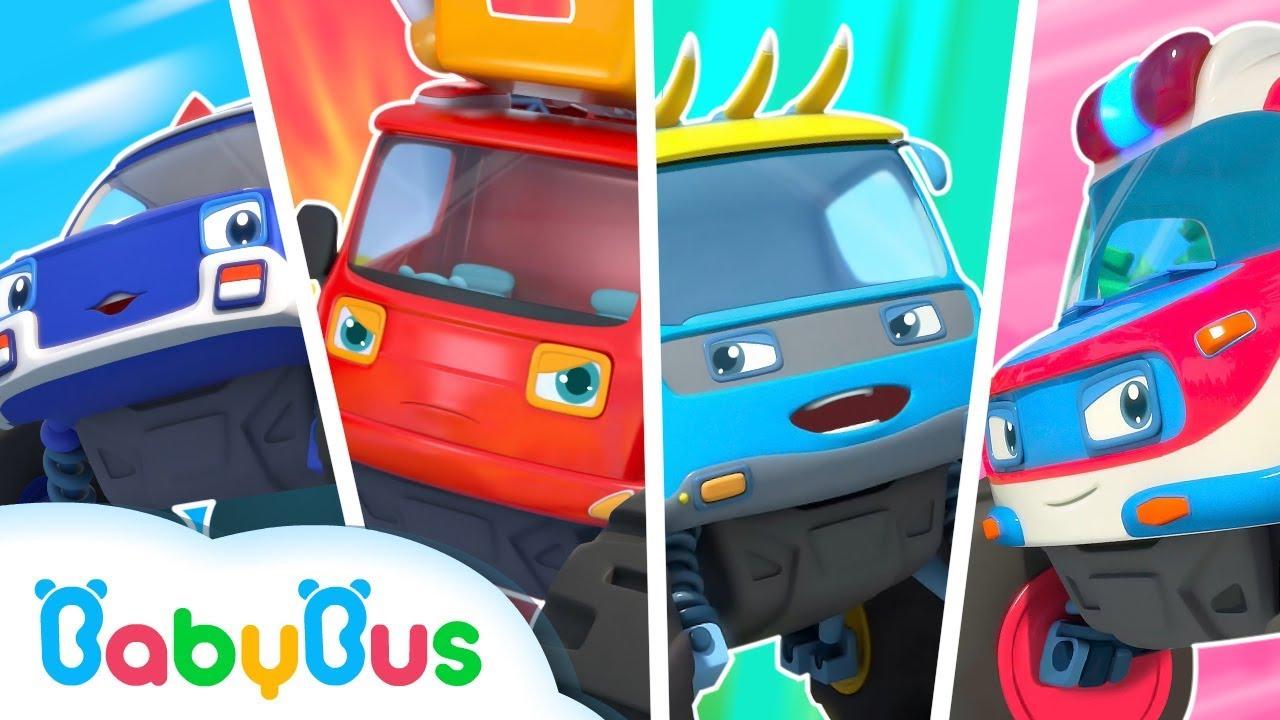 Chúng tôi là những siêu xe quái xế dũng cảm | Biệt đội xe quái xế | Nhạc thiếu nhi vui nhộn BabyBus