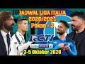 Jadwal Liga Italia Malam Ini Live RCTI Pekan 3 2020/2021