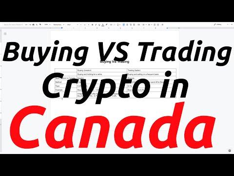 Buying VS Trading Crypto in Canada