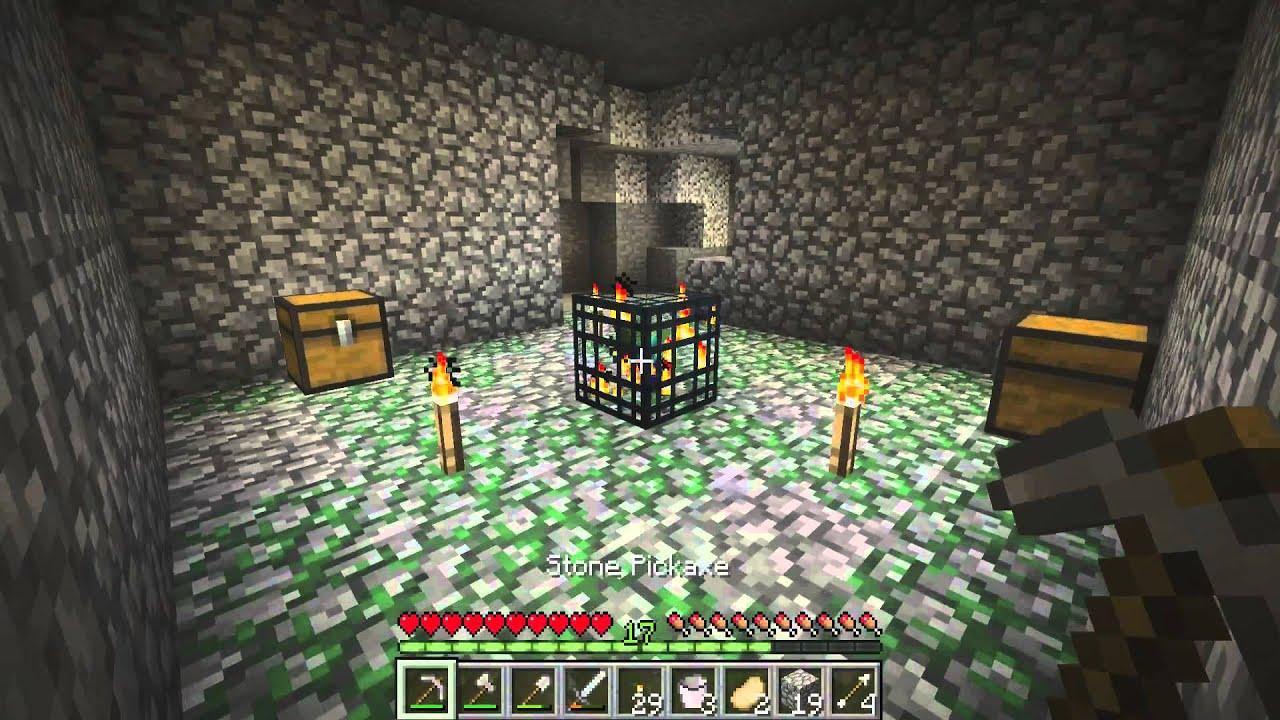 How to destroy dungeon spawner quickly in Minecraft
