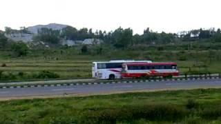 Airawat show off in BM Highway near Bidadi