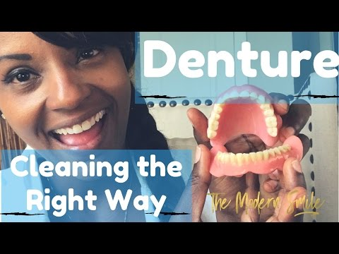 How to clean your dentures the right way.