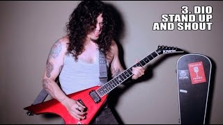 Repeat youtube video TOP 10 Guitar Riffs in A (METAL MEDLEY)