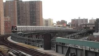BMT Brighton Line: Coney Island-bound R160B Siemens Q Train@West 8th Street-NY Aquarium