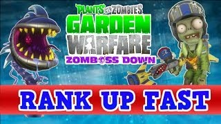 Plants vs Zombies Garden Warfare - How To Rank / Level Up Fast - Tips, Tricks, Tutorial