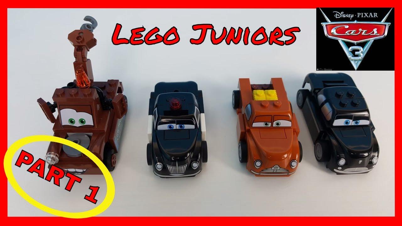 Disney Cars 3 Lego Juniors Part 1 Building Mater Sheriff Smokey Junior Moon