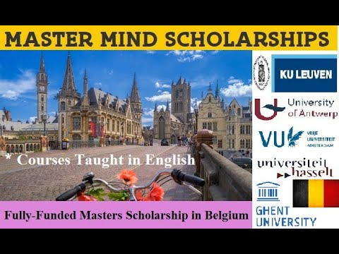 Masters Scholarships in Belgium - Fully-funded (Taught in English)