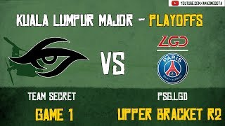 [Highlights] Team Secret vs PSG.LGD | GAME 1 | The Kuala Lumpur Major | Playoffs - Upper Bracket R2