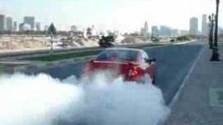 pontiac gto supercharged burn out