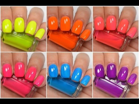 Essie - Neon 2016   Swatch and Review - YouTube