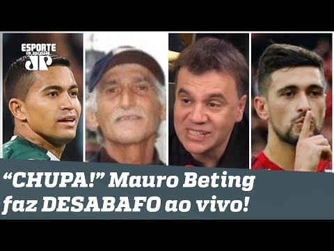 """""""CHUPA!"""" Mauro Beting DETONA pai de atacante que desrespeitou Palmeiras e Flamengo!"""