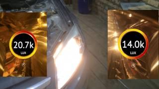 Замена лампочки головного освещения на автомобиле Лада Гранта.