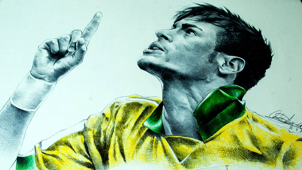 Drawing Neymar Jr Dibujando a Neymar Jr  YouTube