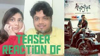 #Ayogya #AyogyaTeaser Ayogya Teaser Reaction | Vishal, Raashi Khanna| Foreigner VS Indain Reaction|