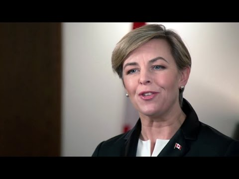 "Conservative leadership candidate Kellie Leitch explains her stance on ""Canadian values"""