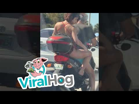 Mack in the Afternoon - Rider in Miami Takes Out Her Razor at Red Light!