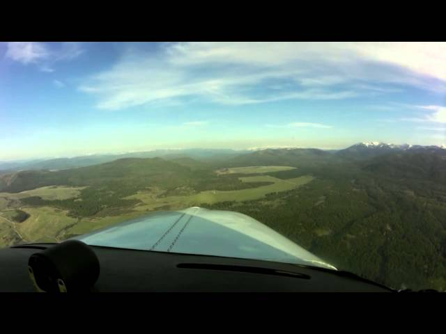 Seeley Lake, Montana   Flight with surprise