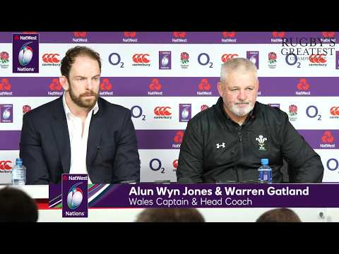 Warren Gatland and Alun Wyn Jones after England v Wales | NatWest 6 Nations