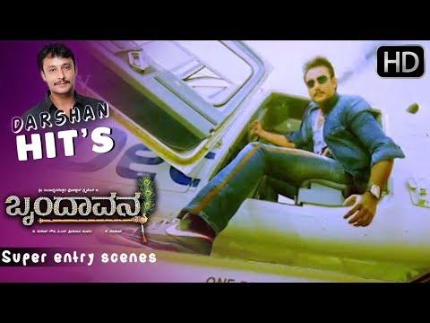 Darshan's power pack entry scenes | Kannada Scenes | Brindavana Kannada Movie | Sadhu kokila