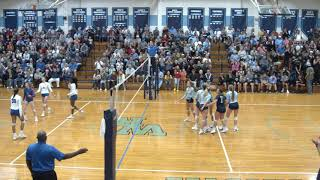 Exciting HS Girls Volleyball State Semifinal Action- W. Rowan v. W. Henderson