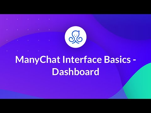 ManyChat Interface Basics - Dashboard