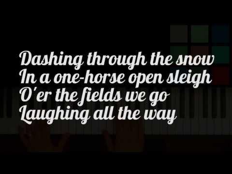 Jingle Bells Lyrics! (Sing Along With The Piano)