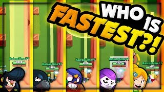 Brawl Stars Olympics! | Which Brawler Races Fastest?! | Speed Comparison Guide
