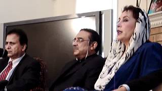 Last Joint Press Confrence of Benazir Bhutto and Asif Zardari in Washington DC