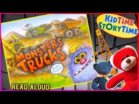 Monster's Trucks | Kids Books Read Aloud | Monster Book