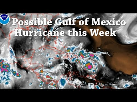 Possible Hurricane threatens the Gulf Of Mexico states this week. Invest 97L