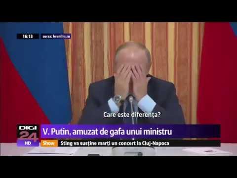 Putin a râs cu lacrimi de gafa unui ministru