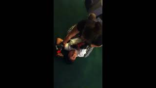 Girl beats boy In tapout match