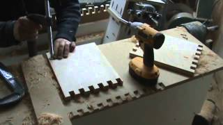 Making Finger Joints Using Floating Router Lathe Copier