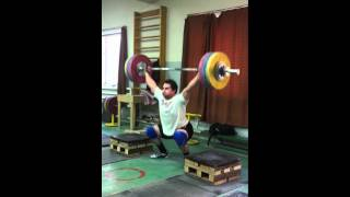 Snatch 160kg for a triple