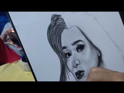 Doing Realistic Portrait Art Of Ms. Jenelle Jingco   Artist Adventures