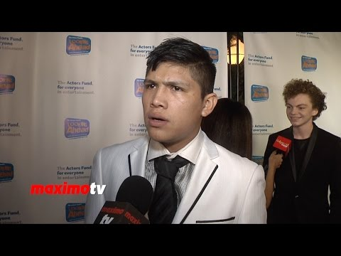 Johnny Ortiz   Looking Ahead Awards 2014  Red Carpet